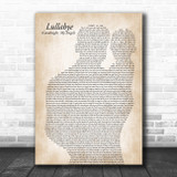 Billy Joel Lullabye (Goodnight, My Angel) Father & Baby Song Lyric Art Print