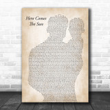 The Beatles Here Comes The Sun Father & Baby Song Lyric Art Print