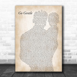 Robbie Williams Go Gentle Father & Baby Song Lyric Art Print