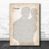 Kelly Osbourne feat. Ozzy Osbourne Changes Father & Baby Song Lyric Art Print