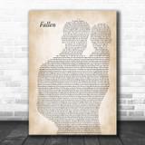 Volbeat Fallen Father & Baby Song Lyric Art Print