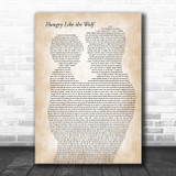 Duran Duran Hungry Like the Wolf Father & Child Song Lyric Art Print