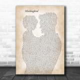 Eminem Mockingbird Father & Child Song Lyric Art Print