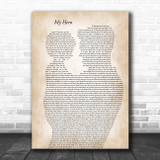 Foo Fighters My Hero Father & Child Song Lyric Art Print
