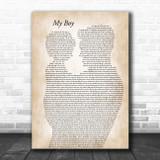 Elvie Shane My Boy Father & Child Song Lyric Art Print