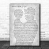 Dave Matthews Band Samurai Cop (Oh Joy Begin) Father & Child Grey Song Lyric Art Print
