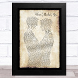 Erasure When I Needed You Gay Couple Two Men Dancing Song Lyric Art Print