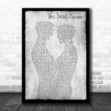 Gwen Stefani feat. Akon The Sweet Escape Gay Couple Two Men Dancing Grey Song Lyric Art Print