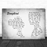 Fleetwood Mac Songbird Man Lady Couple Grey Song Lyric Art Print