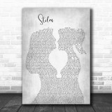 Dashboard Confessional Stolen Lesbian Women Gay Brides Couple Wedding Grey Song Lyric Art Print
