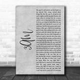 Matchbox Twenty 3AM Grey Rustic Script Song Lyric Art Print