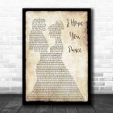 Lee Ann Womack I Hope You Dance Lesbian Couple Two Ladies Dancing Song Lyric Art Print