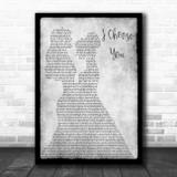 Sara Bareilles I Choose You Lesbian Couple Two Ladies Dancing Grey Song Lyric Art Print
