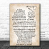Ellie Goulding How Long Will I Love You Mother & Baby Song Lyric Art Print