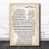 Stevie Wonder Isn't She Lovely Mother & Baby Song Lyric Art Print
