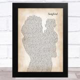 Eva Cassidy Songbird Mother & Baby Song Lyric Art Print