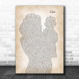 Gilbert O`Sullivan CLAIR Mother & Baby Song Lyric Art Print
