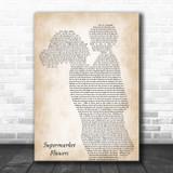 Ed Sheeran Supermarket Flowers Mother & Child Song Lyric Art Print