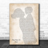 Florence + The Machine Dog Days Are Over Mother & Child Song Lyric Art Print