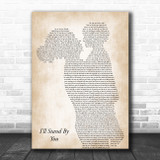 The Pretenders I'll Stand By You Mother & Child Song Lyric Art Print