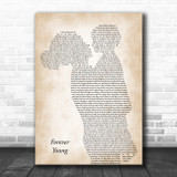 Bob Dylan Forever Young Mother & Child Song Lyric Art Print