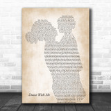 Orleans Dance With Me Mother & Child Song Lyric Art Print