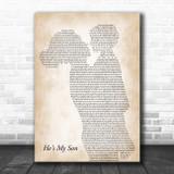 Mark Schultz He's My Son Mother & Child Song Lyric Art Print