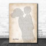 Rascal Flatts My Wish Mother & Child Song Lyric Art Print