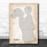 Gavin DeGraw Soldier Mother & Child Song Lyric Art Print