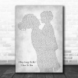 The Carpenters (They Long To Be) Close To You Mother & Child Grey Song Lyric Art Print