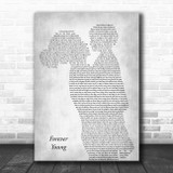 Bob Dylan Forever Young Mother & Child Grey Song Lyric Art Print