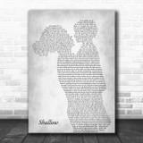Lady Gaga & Bradley Cooper Shallow Mother & Child Grey Song Lyric Art Print