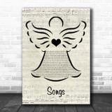 Kids from Fame Songs Music Script Angel Song Lyric Art Print