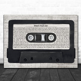 Stiff Little Fingers Wait And See Music Script Cassette Tape Song Lyric Art Print