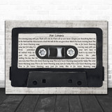Wolfman ft. Peter Doherty For Lovers Music Script Cassette Tape Song Lyric Art Print
