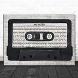 Jimmy Eat World The Middle Music Script Cassette Tape Song Lyric Art Print