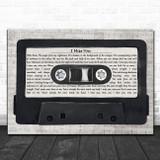Blink-182 I Miss You Music Script Cassette Tape Song Lyric Art Print