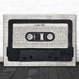 Madonna Lucky Star Music Script Cassette Tape Song Lyric Art Print