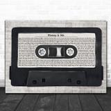 Hanson Penny & Me Music Script Cassette Tape Song Lyric Art Print
