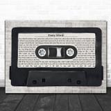Sade Every Word Music Script Cassette Tape Song Lyric Art Print