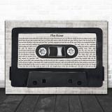 Bruce Springsteen The River Music Script Cassette Tape Song Lyric Art Print