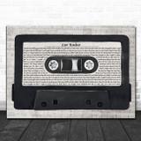 Twenty One Pilots Car Radio Music Script Cassette Tape Song Lyric Art Print
