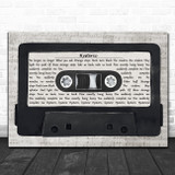 Yeah Yeah Yeahs Hysteric Music Script Cassette Tape Song Lyric Art Print