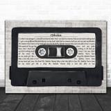 The Lumineers Ophelia Music Script Cassette Tape Song Lyric Art Print