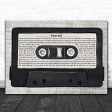 Paolo Nutini Rewind Music Script Cassette Tape Song Lyric Art Print