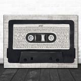 LANY you! Music Script Cassette Tape Song Lyric Art Print