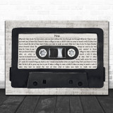 Black Stone Cherry You Music Script Cassette Tape Song Lyric Art Print