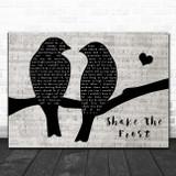 Tyler Childers & The Highwall Shake The Frost Lovebirds Music Script Song Lyric Art Print