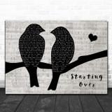 Chris Stapleton Starting Over Lovebirds Music Script Song Lyric Art Print