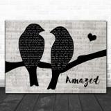 Lonestar Amazed Lovebirds Music Script Song Lyric Art Print